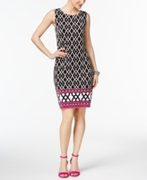 INC International Concepts Petite Mixed-Print Sheath Dress, Created for Macy's