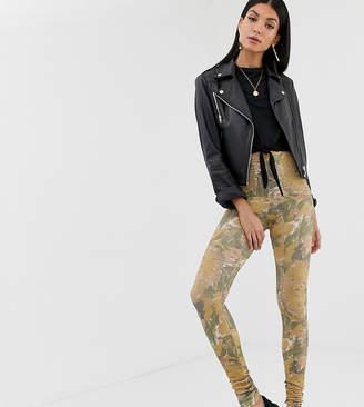 Asos Tall DESIGN Tall legging in abstract print-Multi