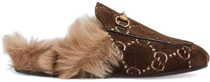 92e06b4bd67 Gucci Velvet Mules - ShopStyle