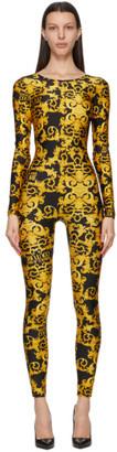 Versace Jeans Couture Black Baroque Jumpsuit