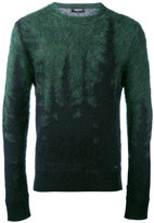 DSQUARED2 gradient embroidered sweater - men - Polyamide/Mohair/Wool - S
