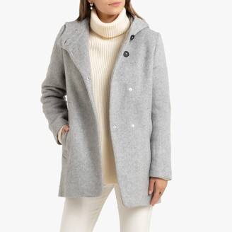 La Redoute Collections Mid-Length Hooded Coat with Pockets