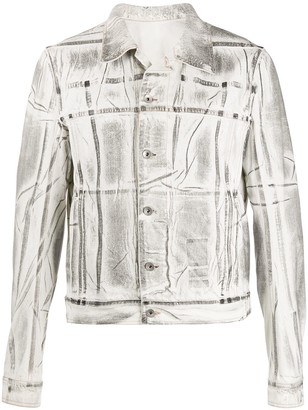 Rick Owens Denim Transfer Print Jacket