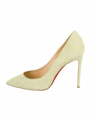 Christian Louboutin So Kate Suede Pumps Yellow