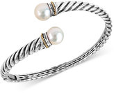 Effy Freshwater Pearl (9mm) Bangle Bracelet in Sterling Silver and 18K Gold