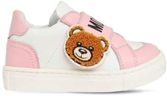 Moschino Leather Strap Sneakers