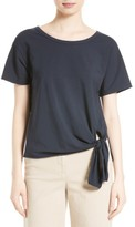 Theory Women's Dorotea T Side Tie Top