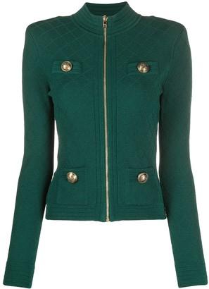 Balmain Structured Shoulder Knitted Jacket