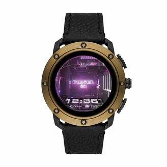 Diesel Men's Touchscreen Connected Smartwatch with Leather Strap DZT2016