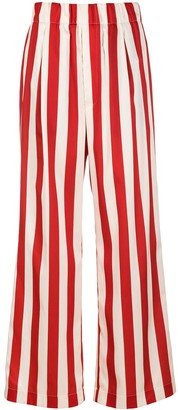 Jejia Vertical-Stripe Flared Trousers
