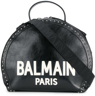 Balmain Paris logo studded tote bag
