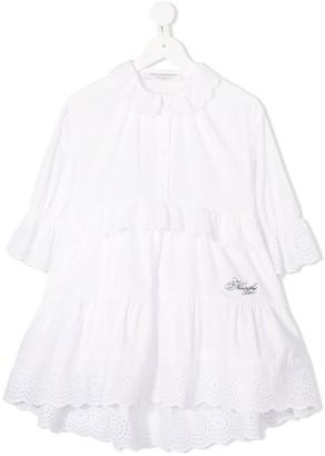 Philosophy Di Lorenzo Serafini Kids Eyelet Ruffle-Trimmed Dress