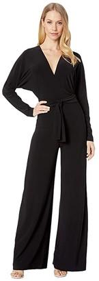 Norma Kamali KAMALIKULTURE by Dolman Wrap Jumpsuit (Black 1) Women's Jumpsuit & Rompers One Piece