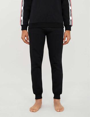 Moschino Logo-tape cotton-jersey jogging bottoms