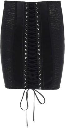 Dolce & Gabbana LINGERIE MINI SKIRT 40 Black