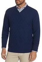 Robert Graham Randie Merino Wool V-Neck Sweater