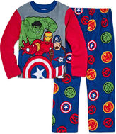 LICENSED PROPERTIES Boys Long Sleeve Avengers Kids Pajama Set-Big Kid