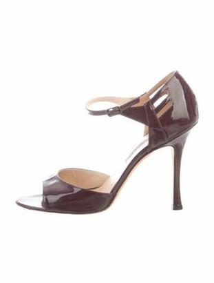 Manolo Blahnik Patent Leather Sandals