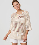 LOFT Beach Lace Up Sweater