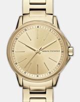 Armani Exchange Lady Banks Gold Tone Analogue Watch