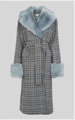 Whistles Fur Collar Coat