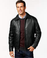 Nautica Big and Tall Classic Leather Jacket