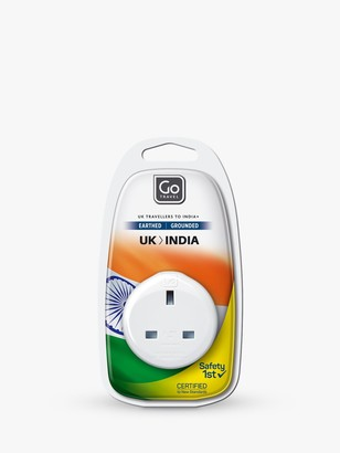 Go Travel USB UK to India Travel Adaptor