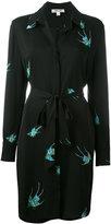 Diane von Furstenberg bird print shirt dress - women - Silk/Spandex/Elastane - 6