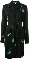 Diane von Furstenberg bird print shirt dress