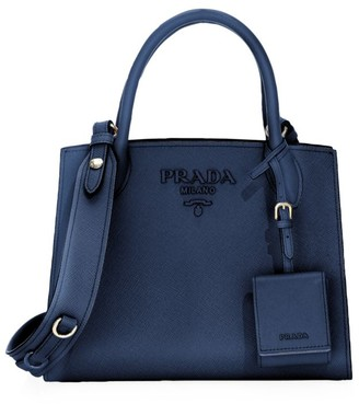 Prada Small Monochrome Leather Tote