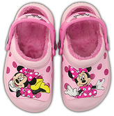 Crocs Pink Minnie Glitter Lined Clog - Kids