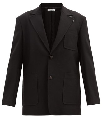 Our Legacy Patch Pocket Single-breasted Wool Suit Jacket - Black