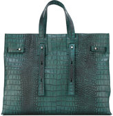 Orciani crocodile-effect tote - women - Leather - One Size