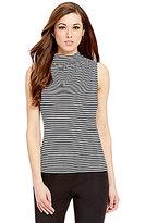 Antonio Melani Ariadne Mock Neck Stripe Knit Top