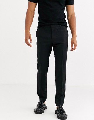 Tommy Hilfiger wool slim fit trousers-Black