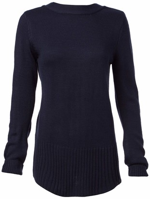 EVIDNT Women's Back LACE-UP Pullover Sweater