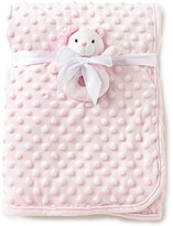Starting Out Baby Girls Bear Dot Rattle Blanket