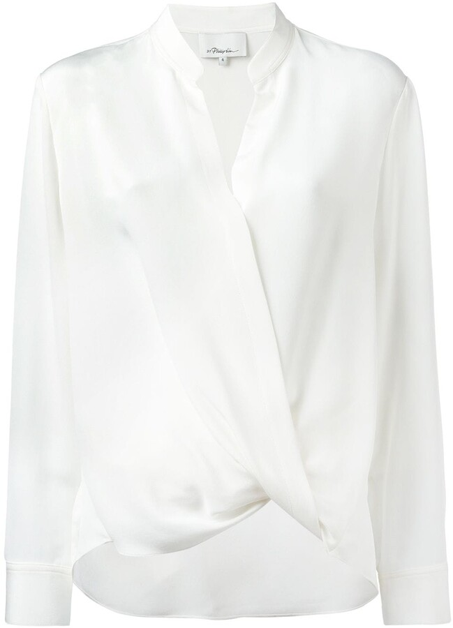 Thumbnail for your product : 3.1 Phillip Lim Crossover Collarless Draped Blouse
