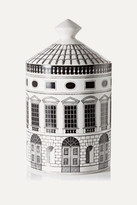 Fornasetti Architettura Thyme, Lavender And Cedarwood Scented Candle, 300g - White