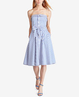 Polo Ralph Lauren Bengal-Stripe Fit & Flare Dress