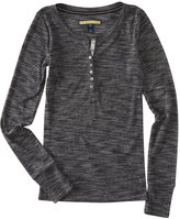 Aeropostale Womens Prince & Fox Basic Ribbed Henley Shirt