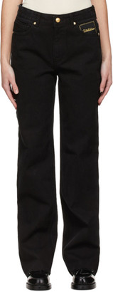 we11done Black Straight-Fit Jeans