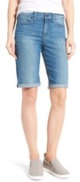 NYDJ Women's Briella Stretch Denim Roll Cuff Shorts