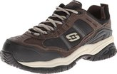 Skechers for Work Men's Soft Stride Grinnel Slip Resistant Steel Toe Work Shoe