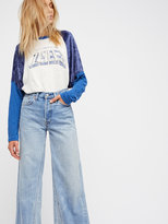 Free People Levi's Altered Wide Leg Jeans