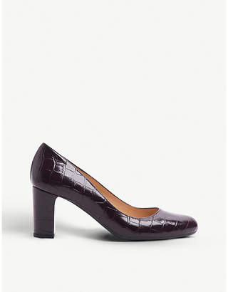 LK Bennett Sersha mock-croc patent leather courts