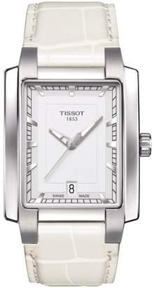 Tissot Women's TXL Croc Embossed Leather Strap Watch, 32.4mm