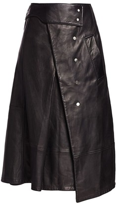 3.1 Phillip Lim Leather Trench Skirt