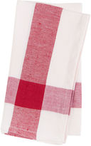 Found Object S/4 Corner Crossover Linen Napkins, Red