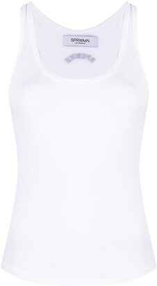 Sprwmn Cotton Vest Top